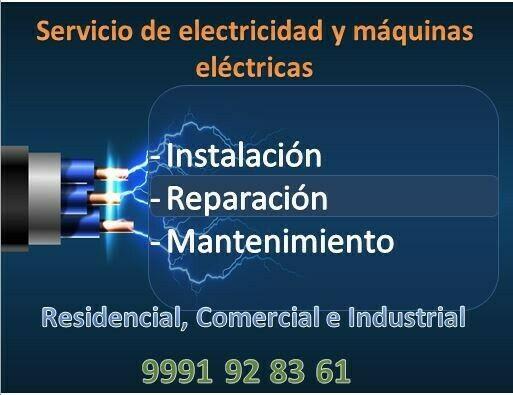 Servicios de Electricidad y máquinas eléctricas