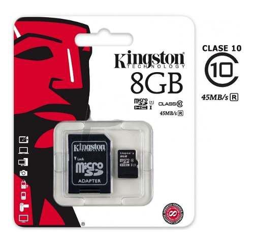 Tarjeta De Memoria Micro Sd 8 Gb Con Adaptador Para Sd