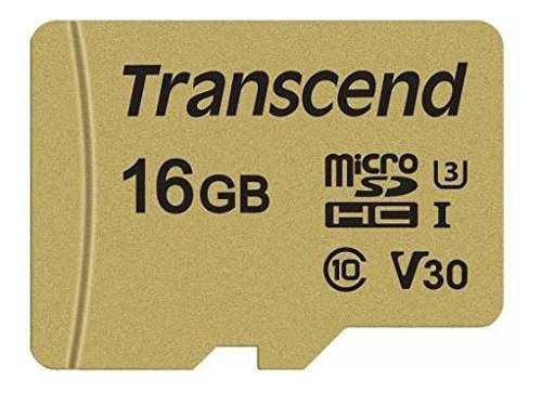Transcend Tarjeta De Memoria De 16 Gb Ts16gusd500s Uhs-i U3