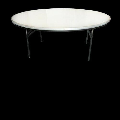 mesa redonda en fibra de vidrio reforzada