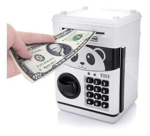 Alcancia Billetes Y Monedas Panda Con Sonido