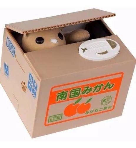 Alcancia Roba Monedas Con Sonido De Gato Naranja H
