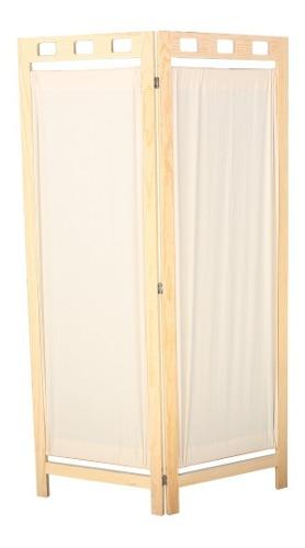 Biombo De Madera Elegante Y Practico 2 Paneles- Envio Gratis