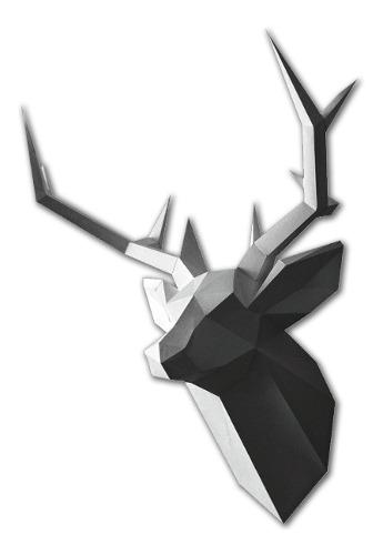 Cabeza Venado 3d Papercraft Origami Papiroflexia