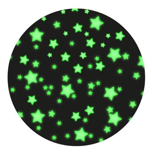 Kit 300 Estrellas De Vinilo Fluorescentes Brillan Obscuridad