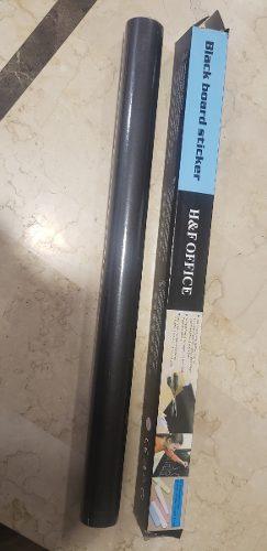 Pizarrón Vinil Negro Autoadherible P/gis 200 X 45cm+5 Gises