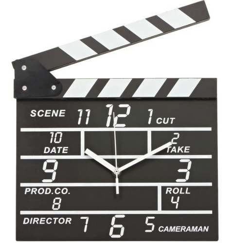 Reloj De Pared Claqueta De Cine Pizarra Director Movie Set
