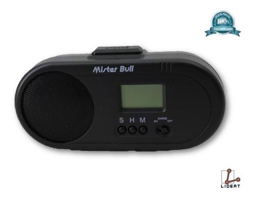 Reloj Despertador Parlante Mb-c001 Mister Bull Negro