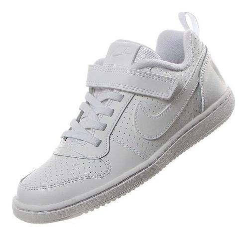 Tenis Nike Escolar Niños Court Borough Blanco Original