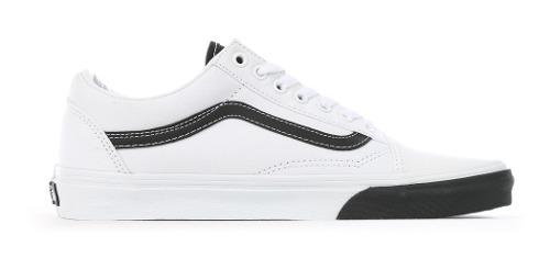 Tenis Vans Old Skool Blanco Suela Negra Originales