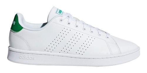 Tenis adidas Advantage Clean Blanco/verde Escolar Unisex