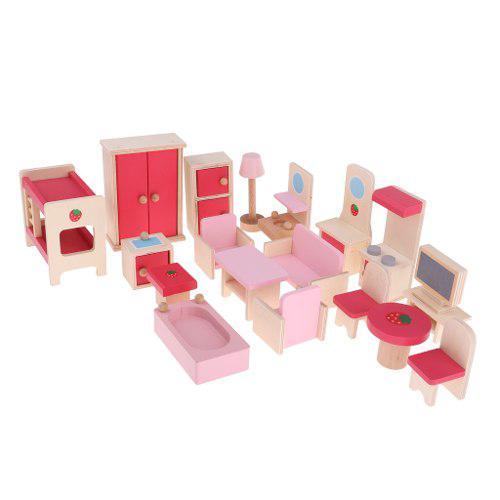 1 Juego De Muebles En Miniatura Para Decoración De Casita
