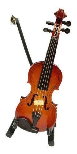1:12 Violín De Madera Instrumento Musical En Miniaturas
