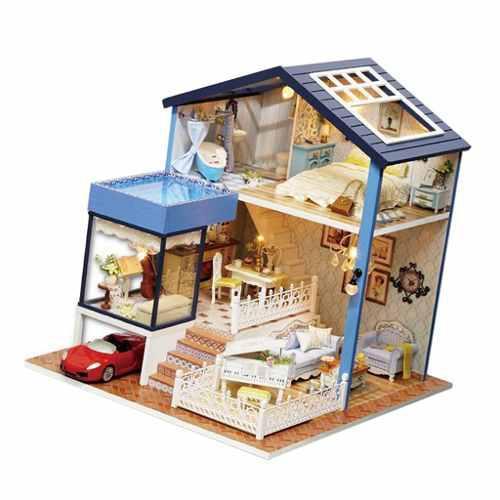 1/24 Diy Miniatura Seattle Kits De Casa De Muñecas Con