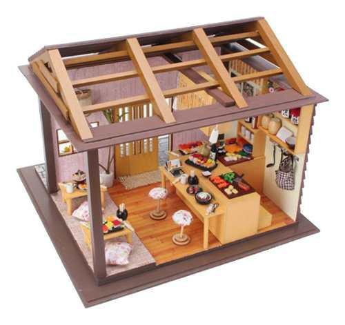 1:24 Dollhouse Miniatura Diy Casa De Muñecas Kits Sushi