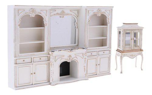 2 Unids 1/12 Miniaturas Modelo De Gabinete Muebles De