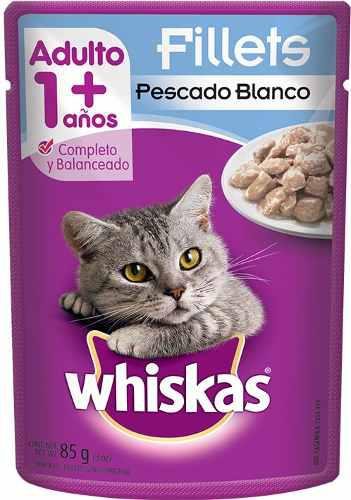 Alimento Para Gato Whiskas Pescado Blanco Adulto 85 Gr