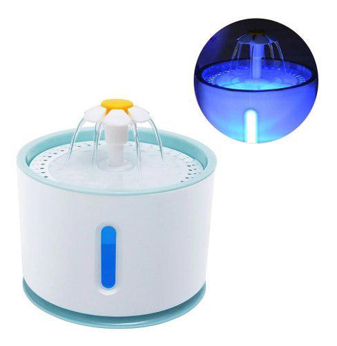 Bebedero Fuente Para Gato O Perro Con Luz Dispensador Agua