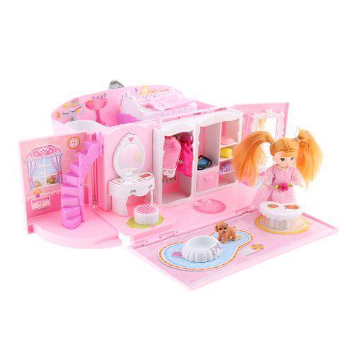 Bolsa De Casa De Muñecas En Miniatura Con Muebles, Diseño