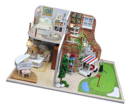 Casa De Muñecas En Miniatura Estilo Diy Japonés Con Luz