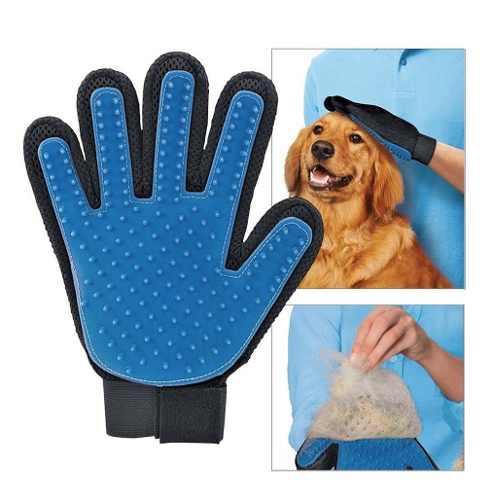 Guante Cepillo Mascotas Tipo True Touch Perro Gato Con