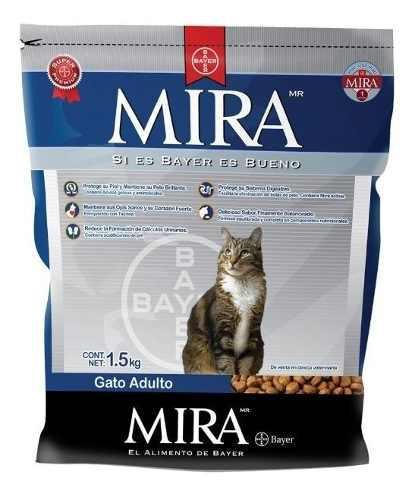 Mira Gato 3kg Bayer Alimento Para Gato Croquetas Premium