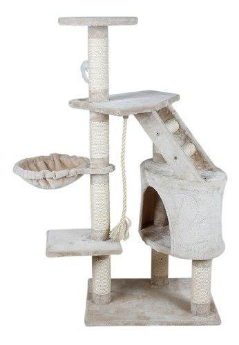 Mueble Rascador Gato Con Casa Y Hamaca 120 Cm Gatos 8457