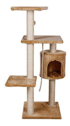 Mueble Rascador Gato Con Casa Y Juguete 112 Cms Gatos 8458