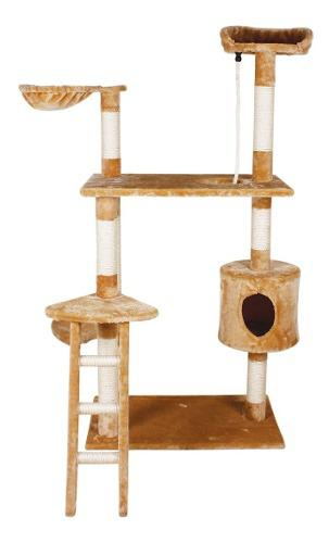 Rascador Gato Con Hamaca Y Escalera 1.58m Alto Grande