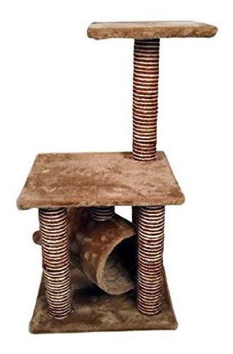 Rascador Gato Con Tunel 85cm