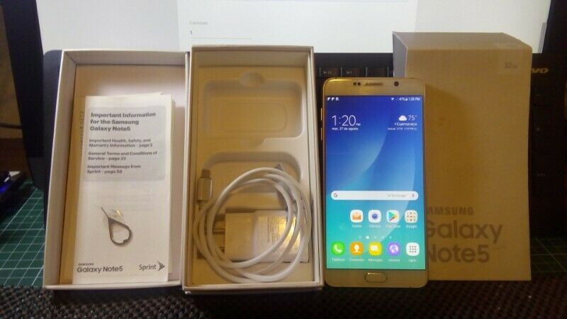 Samsung Galaxy Note 5 De 32 Gb Impecable Liberado En Su Caja