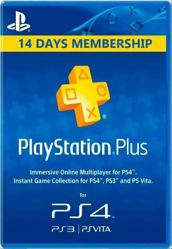14 Dias De Psn Plus - Ps3 Ps4 Ps Vita
