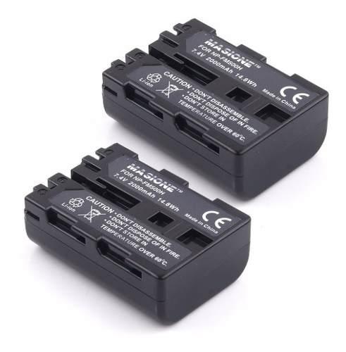 2x Kit Bateria Np-fm500h Sony A100 A200 A300 A57 A65 A77 A99