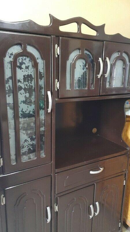 ALACENA DE MADERA COLOR CHOCOLATE