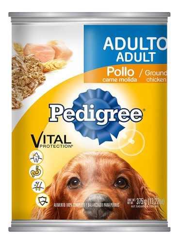 Alimento Para Perro Pedigree Adulto Molida Pollo Lata 375 Gr