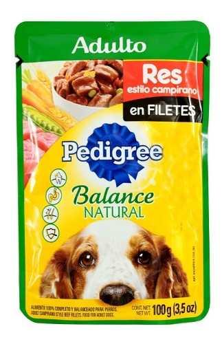 Alimento Para Perro Pedigree Res Y Vegetales Adulto 100 G
