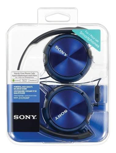 Audifonos Sony Mdr-zx 310 Azul Manos Libres