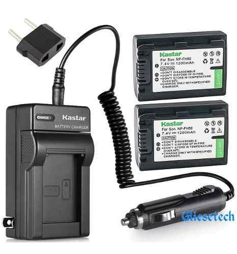 Cargador + 2 Baterias Sony Np-fh50 Fh40 Dslr-a230 Oferta!