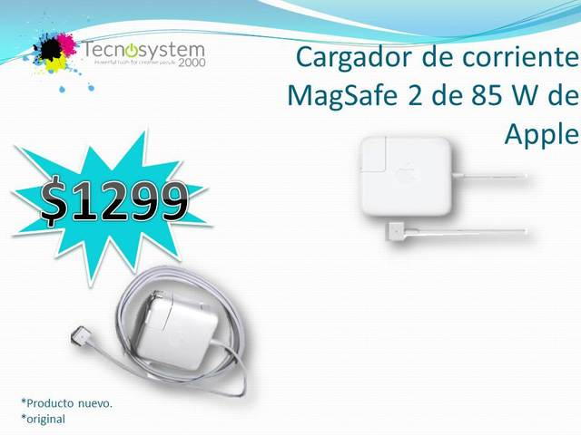 Cargador de corriente MagSafe 2 de 85 W de Apple