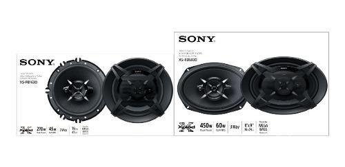 Juego De Bocinas Sony 6.5 Y 6x9 Pulgadas Modelo Xs-fb1630 Y