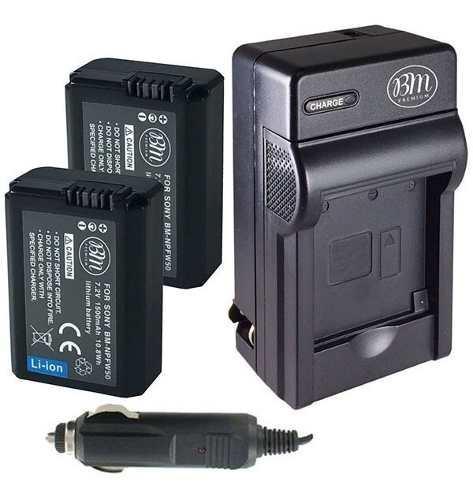 Kit Cargador Y 2 Bateria Np-fw50 Para Sony A6000 A7 Nex