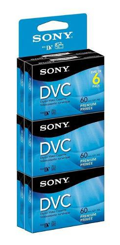Paquete De 6 Video Cassettes Cinta Digital Sony Dvc Mini Dv