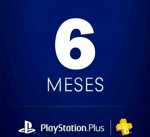 Playstation Plus 6 Meses Ps, Ps4, Ps Vita. Envio Inmediato!