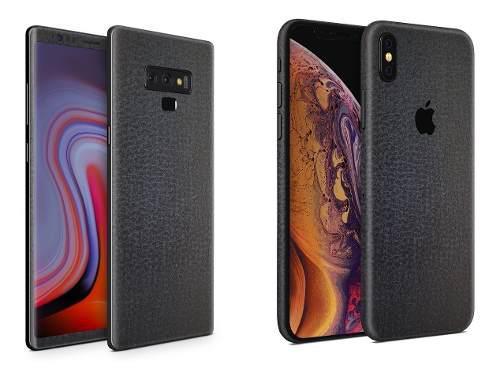 Skin Piel Negra Para Apple Samsung Huawei Lg Sony Xiaomi Etc