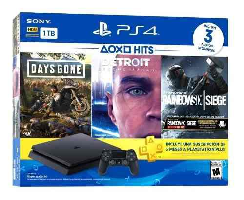 Sony Ps4 Hits Bundle Playstation 4 Slim 1tb 3 Juegos 12msi