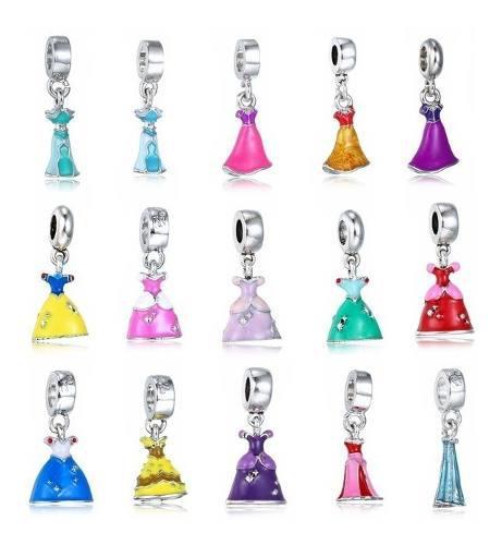 15 Charms De Princesas Disney Compatibles Pulsera Pandora
