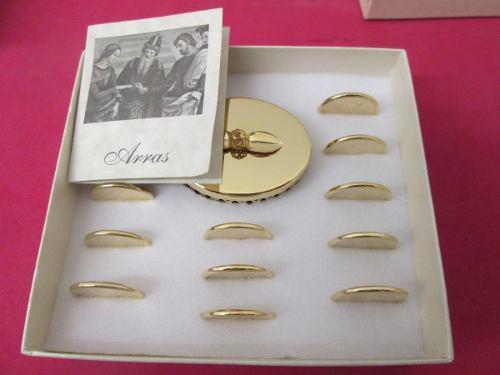 Arras Matrimoniales Boda Chapa De Oro 14 Kilates.