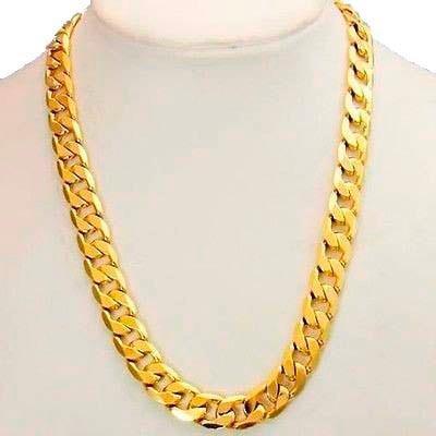 Cadena Barbada De Oro Macizo 10k 65cm. Pesa 60grs Solid Gold