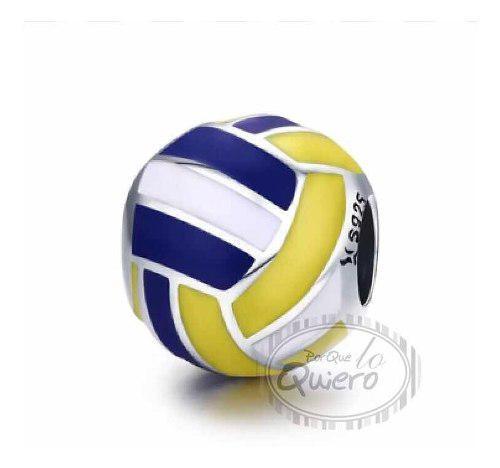 Charm 100% Plata Balón Voli Voleibol Compatible Pandora