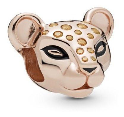 Charm Pandora Charm Princesa Leona Rose Gold 14k Brillantes